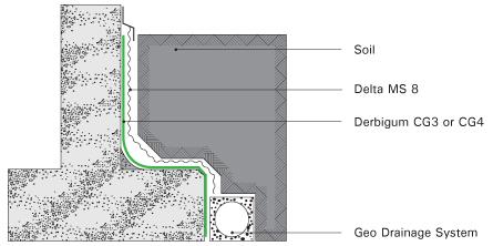 Derbigum Specs Shuttered Concrete Walls